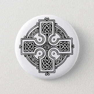 Celtic CROSS pattern 6 Cm Round Badge