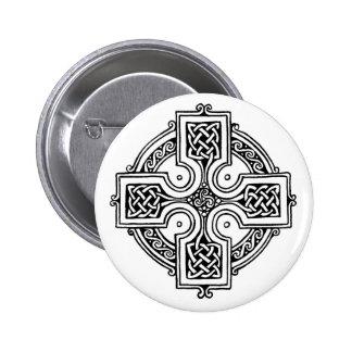 Celtic CROSS pattern 6 Cm Round Badge