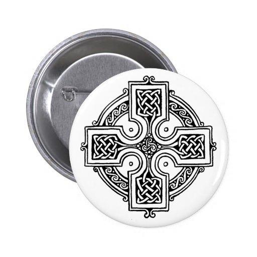 Celtic CROSS pattern Pinback Button