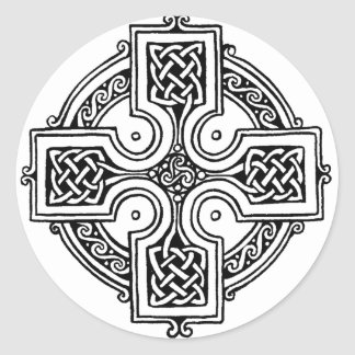 Celtic CROSS pattern Classic Round Sticker