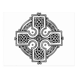 Celtic CROSS pattern Postcard