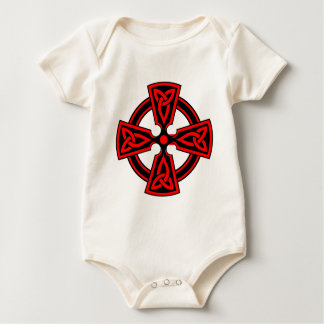 Celtic Cross (red) Baby Bodysuit