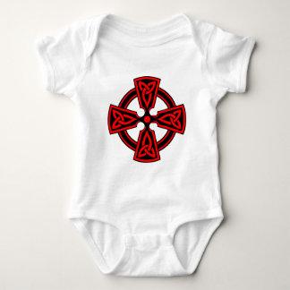 Celtic Cross (red) Baby Bodysuit