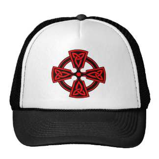 Celtic Cross (red) Cap