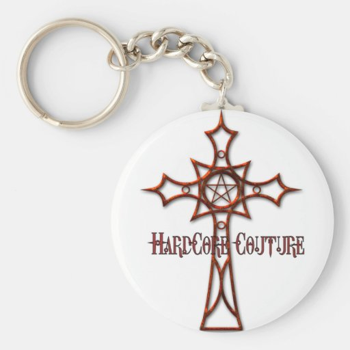 Celtic Cross Red keychain