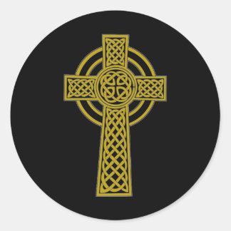 Celtic Cross Round Stickers