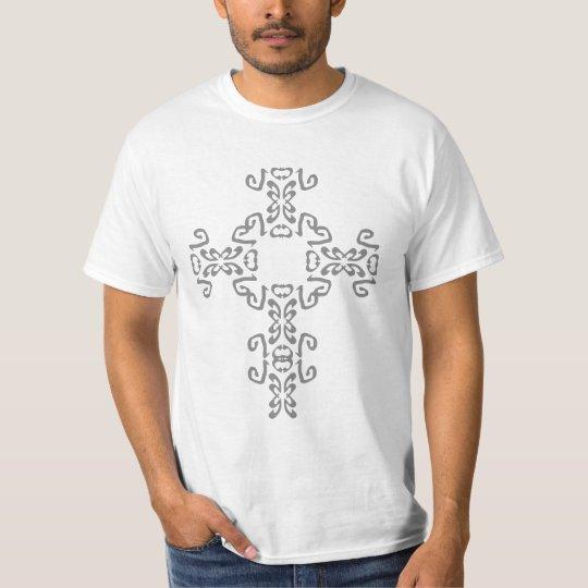 Celtic Cross Silver Tattoo Shirt