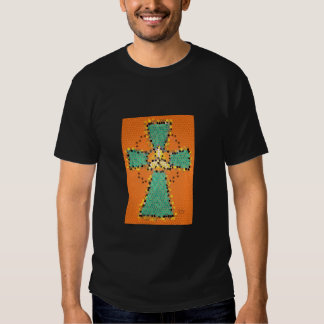 Celtic Cross Stained Glass basic tee