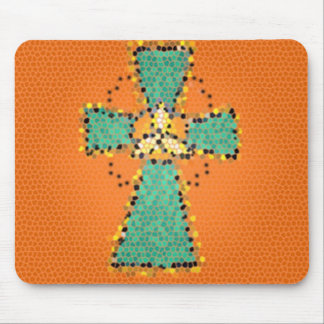 Celtic Cross Stained Glass mousepad