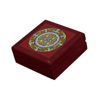 Celtic cross steel and leather gift box