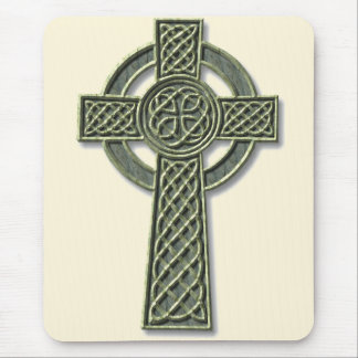 Celtic Cross - stone Mouse Mat