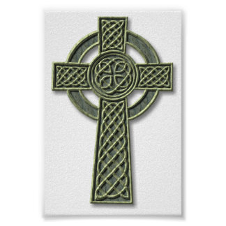 Celtic Cross - stone Poster