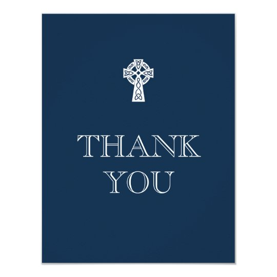 Celtic Cross Thank You Card - Boy First