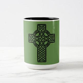 Celtic Cross Two-Tone Coffee Mug