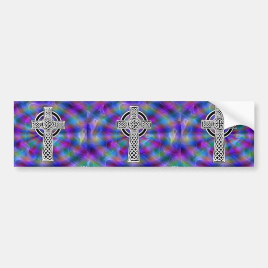 celtic cross wave bumper sticker
