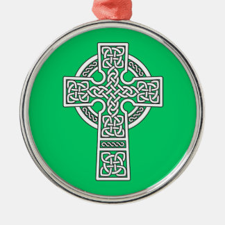 Celtic Cross white Christmas Ornament