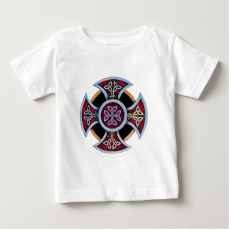 Celtic Cross with infill pattern Baby T-Shirt