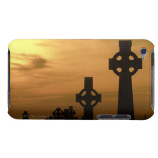 Celtic crosses at dusk, County Clare, Republic Barely There iPod Cases