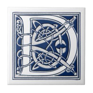 Celtic D Monogram Tile