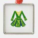 Celtic Dance Dress Silver-Colored Square Decoration