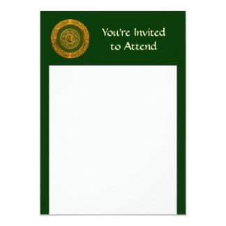 Celtic Design 13 Cm X 18 Cm Invitation Card