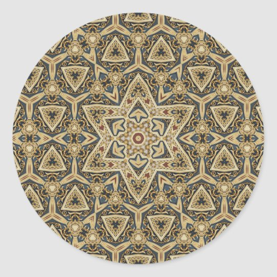 celtic design classic round sticker