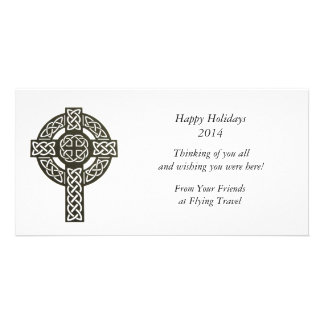 Celtic Design Cross Image Custom Photo Card