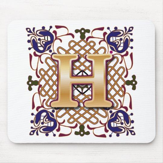 Celtic Design Letter H Mouse Mat