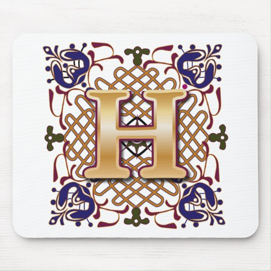 Celtic Design Letter H Mouse Pad