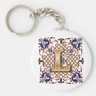 Celtic Design Letter L Keychain