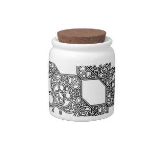 Celtic Design Pattern Jar Candy Dish