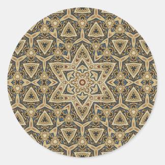 celtic design round sticker