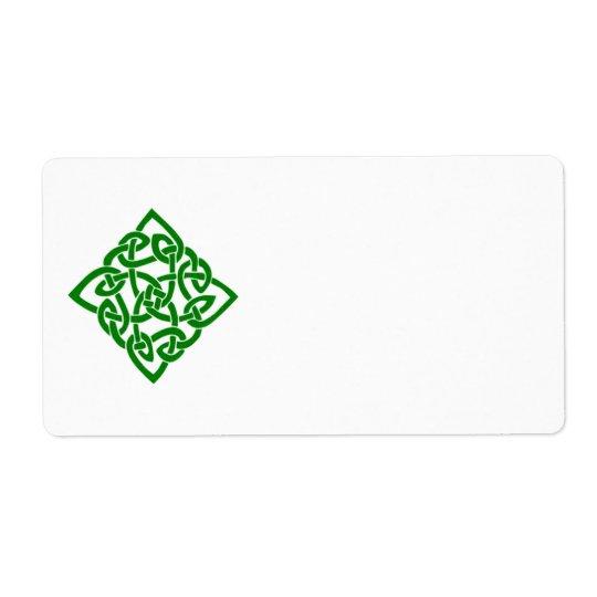 Celtic Diamond Label Shipping Label