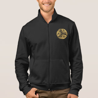 Celtic dogs gold traditional ornament digital art jacket