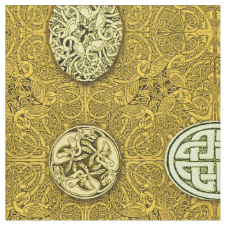 Celtic Dogs, Horses and Birds Fabric