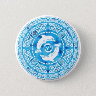 Celtic Dolphin 6 Cm Round Badge
