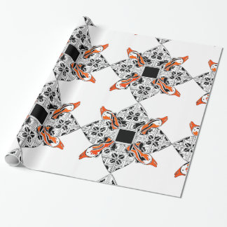 Celtic dolphins wrapping paper