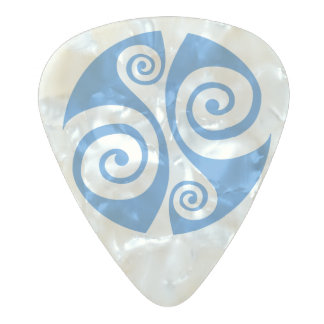 Celtic Double Spiral Pearl Celluloid Guitar Pick