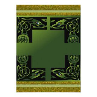 Celtic Dragon 14 Cm X 19 Cm Invitation Card
