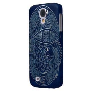 Celtic Dragon Blue Galaxy S4 Case