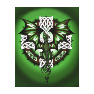 Celtic Dragon Canvas Print