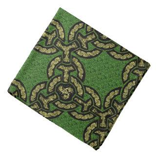 Celtic Dragon Chain on Green Bandana