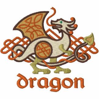 Celtic Dragon Embroidered Hooded Sweatshirt