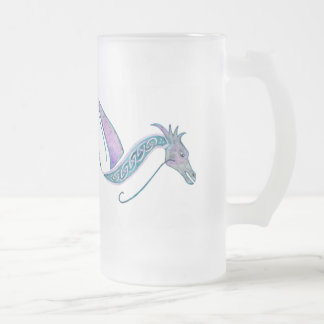 Celtic Dragon Frosted Stein and Mug