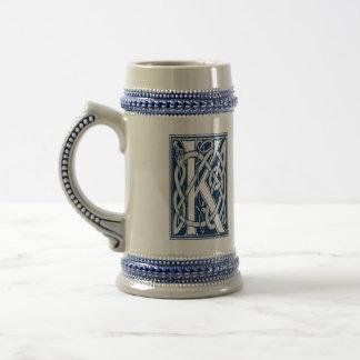 Celtic Dragon Initial K Beer Stein