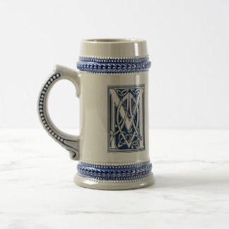 Celtic Dragon Initial M Beer Stein