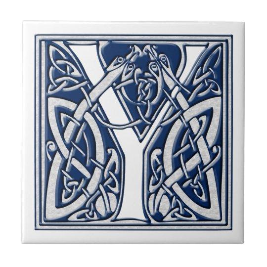 Celtic Dragon Initial Y Tile