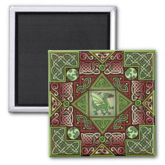 Celtic Dragon Labyrinth Magnet