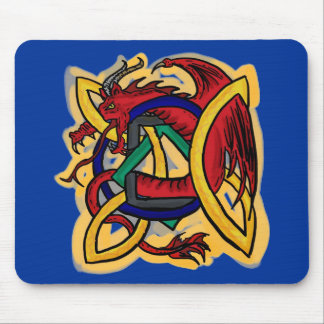 Celtic dragon mousepad