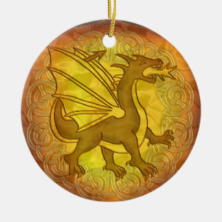 Celtic Dragon Shield Ornament